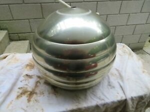 Vintage Mid Century MCM Brass Plated Pole Arc beehive Lamp Shade