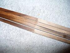 American Walnut solid wood guitar binding strips, 4 pieces