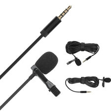 Live Broadcast Collar Clip Microphone for 3.5mm Audio Smart Phone 6m/3m Wire Mic