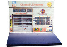 Diorama présentoir Simca - Garage P. Duquesne - 1/43ème - #43-2-A-A-003