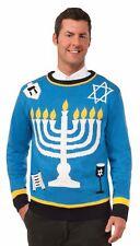 Ugly Christmas Sweater Happy Chanukah Hanukkah Jewish Holiday Adult X-Large