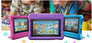 New Amazon Kindle Fire 7 Kids Edition Tablet 16GB ,7 Inch Blue,Pink,Purple! FAST