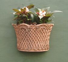 Terracotta Decorative Stone Basket Weave Garden Wall Planter