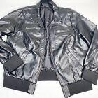 Torrid Womens Bomber Jacket Plus Size 2 (2X) Black Faux Leather Moto Full Zip