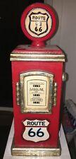 "Vintage Route 66 Wood Gas Pump Cabinet Storage Shelf 19"""