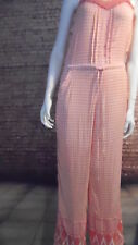 coral jumpsuit sleeveless crochet trim geometric 12 river island