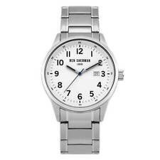 Ben Sherman Men's Watch White Dial Quartz Stainless Steel Bracelet WB065SM