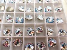 6 White Patina Foiled Swarovski Crystal Chaton Stone Spike 1188 39ss 8mm