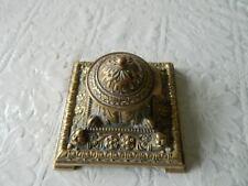 Vintage Ornate Brass inkwell