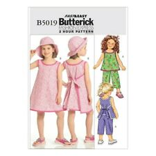 Butterick Very Easy Sewing Pattern B5019 Childrens Top Dress Pants & Hat 6 7 8