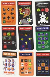 9 Pairs Pack of Intellivision Overlays for Flashback & Original Console