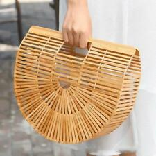 Bamboo Purse Tote Clutch Handbag Beach Handmade Womens Summer Bag Wooden Straw