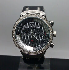 Men's Diamond Joe Rodeo Watch Black And Silver Face Resin Bands