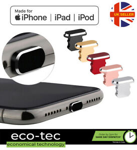 Metal Charging Port Anti Dust Cover Plug for iPhone 13 12 11 SE XS 8 7 6 Pro Max