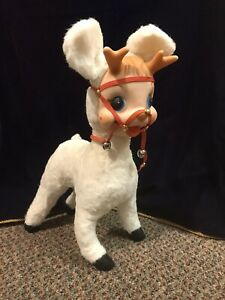 Vintage Rushton Star Creation1950s Santa's Reindeer Stuffed Animal Rubber Face