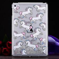 Fashion Unicorn Liquid Glitter Dynamic Quicksand Case Back Skin For iPad mini4