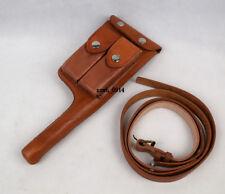 replica WW2 German Mauser C96 Broomhandle Leather Holster W Straps