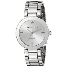 Anne Klein 1363SVSV Women's Silver Tone Dial Steel Bracelet Diamond Watch