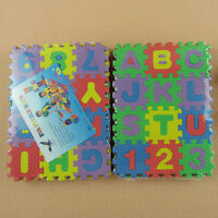 Interlocking EVA Foam Alphabet Letters Numbers Floor Soft Play Mat Puzzle Kids