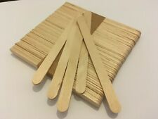 50 pack PLAIN natural wood wooden lolly sticks, for craft, ice lollipops
