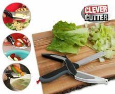 Clever Scissors Cutter 2-IN-1 Knife Cutting Board Stainless Smart Cutter As Seen