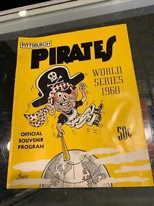 TOM JOHNSON PITTSBURGH PIRATES 1960 WORLD SERIES UNSCORED PROGRAM EX TJ