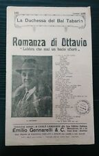 FC400_ROMANZA DI OTTAVIO_ED. GENNARELLI_LABBRA CHE MAI UN BACIO SFIORO'_1916