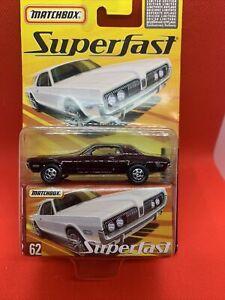 Matchbox SuperFast 1968 Mercury Cougar 1/8000 VHTF RARE SEALED