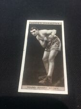 Young Johnny Brown 1928 Ogdens Boxing Cigarette card Boxer Pugilists in action