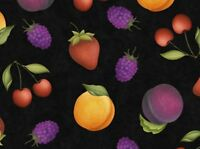 Quilting Treasures Fruit Basket 100% cotton fabric by the yard