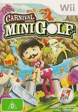 NINTENDO WII CARNIVAL GAMES MINI GOLF GAME