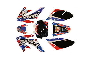 Pit Dirt Bike Sticker Set CRF 70 CRF70 Plastic Graphic For Thumpstar Pitbike