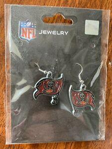 NFL Tampa Bay Buccaneers Team Logo Earrings by Sisklyou Sports New