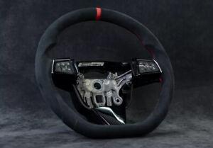 Cadillac CTS-V Custom flat bottom steering wheel Cts 2008–2013 Suede Alcantara