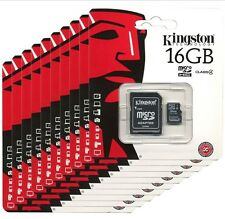 Lot 10 KINGSTON 16GB Micro SDHC UHS-I Card Class 10 Memory 16G C10 TF SDC10G2