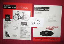 N°4698  /  prospectus le cyclomoteur Lucien MICHARD équipé du moteur Junior