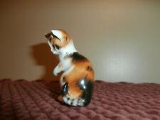 New ListingCute Vintage Royal Doulton Bone China Calico Cat Kitten Figurine~Wn2582~England