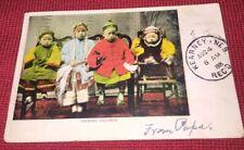 Vintage Postcard Chinese Children San Francisco 1905