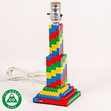 Handmade Spiral LEGO (R) Lamp
