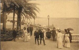 Monte Carlo, MONACO  - New Terraces - 1908 - long dresses, rolling chair