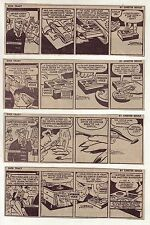 Dick Tracy by Chester Gould - 12 daily comic strips from Dec. 1967 & Jan. 1968