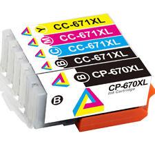 5pcs PGI-670XL CLI-671XL Ink Combo Pack For Canon TS5060 TS6060 TS8060 TS9060