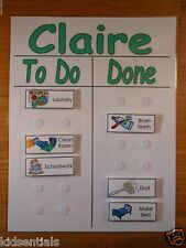 Chore Chart To Do List with Chores Task Pictures, Daily Planner, Customizable