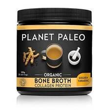 Planet Paleo Organic Bone Broth Collagen Protein Golden Turmeric 225g