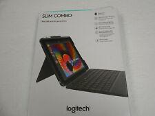 Logitech Slim Combo Keyboard Case iPad 5& 6th Generation  ( Black )