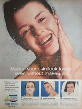 1963 Noxzema Skin Cream Cleans Drys Clears Blemishes Original Ad