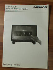 Medion multi-pantalla táctil-monitor akoya x54000 md20165 manual de instrucciones