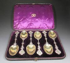 Antique WIDDOWSON & VEALE Cased Presentation Silver Spoon Set c.1800's Nice Set!