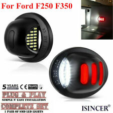 2x LED License Plate Tag Light Lamp Red White For Ford F250 F350 Pickup 99-2016