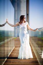 Wedding Dress, Laura Blue By Enzoani Size 12/14 Ivory